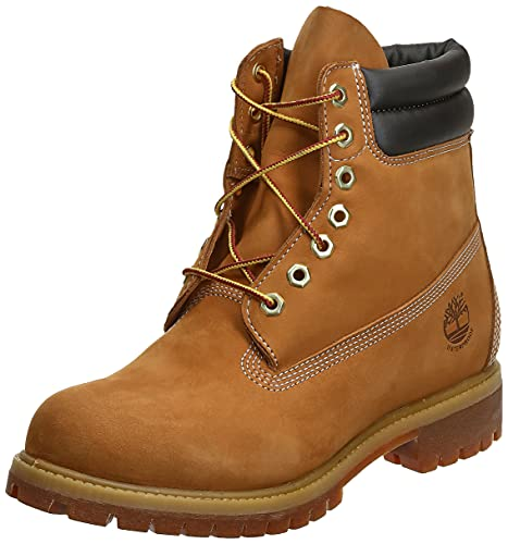 Timberland Men's 6 in Double Collar Boot Ankle, Wheat Nubuck, 10.5