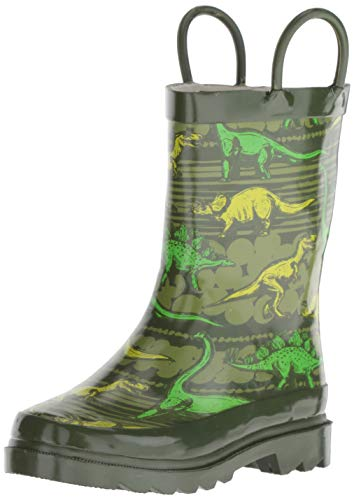 Western Chief Boy's Waterproof Printed Rain Boot, Dino Quest, 11-12 Little Kid