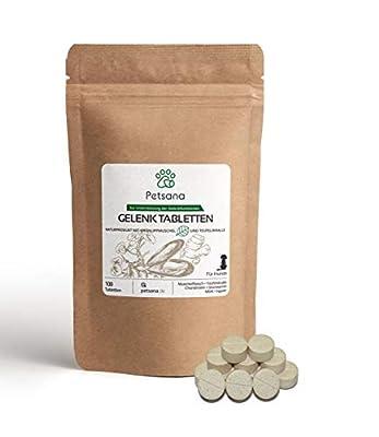 Petsana Gelenktabletten für Hunde - mit Grünlippmuschel, MSM, Teufelskralle, Chondroitin, Glucosamin - Natürliche Inhaltsstoffe - 100 Tabletten