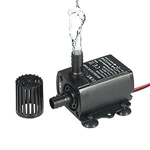 Mini Micro Bomba Sumergible de Agua Aceite Ultra Silencioso Sin Escobillas Brushless Dc 12V 240L / H Elevacin de 3M