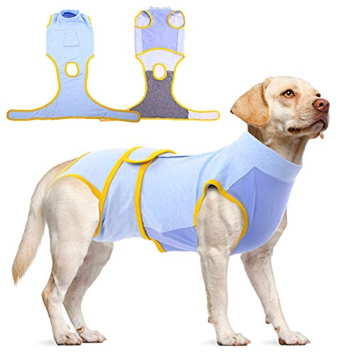 Pet Recovery Suit for Dogs Cats After Surgery,Male Female Dog Abdominal Wound Protector,Professional Puppy Medical Surgical Clothes Bandages Cone E-Collar Alternative,Dog Post-Operative & Weaning Vest