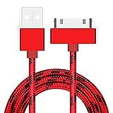 Jenor-Câble tressé USB de charge, synchronisation des données, 30broches pour iPhone3G, 4, 4S, iPad2, 3, 4, iPod,...