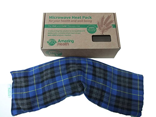 Unscented Microwave wheat bag-UK Made - NON Scented Royal Blue Tartan Cotton Made in Britain