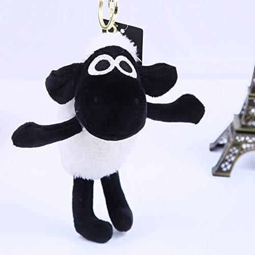 SWAOOS Neue Schafspelz Schlüsselanhänger Neue Pompon Tier Plüsch Keychain Autoschlüssel Ring Schaf Tasche Mode Telefon Schlüsselhalter Geschenk Schmuck K1263