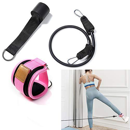 Tancurry Beintrainer Fitnessbänder Türanker Yoga Sport Pilates Widerstandsbander (Rosa)