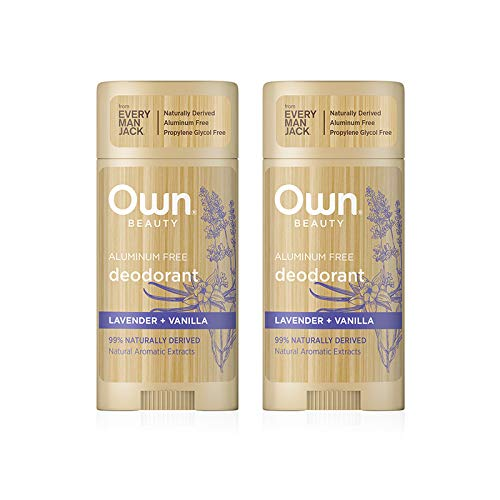 Own Beauty Deodorant - Lavender + Vanilla | 2.7-ounce Twin Pack | Naturally Derived, Parabens-free, Dye-Free, and Certified Cruelty Free