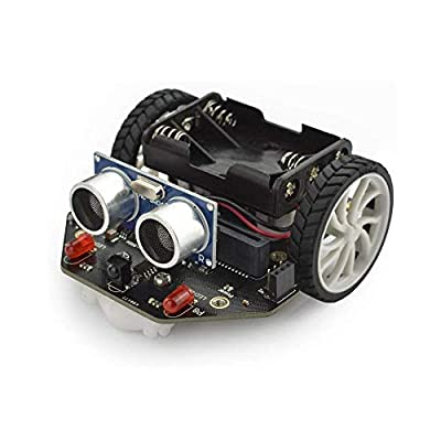 DFROBOT Maqueen Micro:bit Robot Platform - Graphical Programming Educational Robotic Car for Kids - STEM Learning DIY Mini Robot Kit for Maker Education (Without Micro:bit Board)