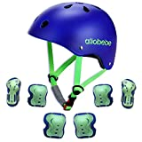 allobebe Kids Bike Helmet Toddler Helmet, Sport Protective Gear Set, Adjustable Child Cycling Helmet, Knee Pads Elbow Pads Wrist Guards for 3-10 Years, Cycling Skating Scooter Helmet and Pads