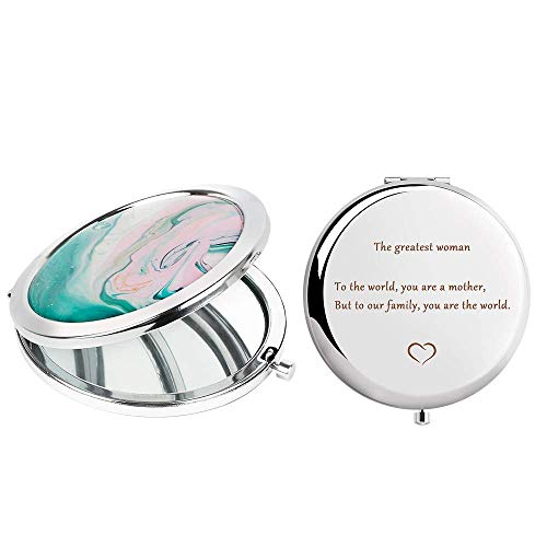 Best Mother Gifts from Daughter, Ideals Birthday Anniversaries Gift to My Love, Graduation Gifts for Her, Makeup Mirror with Gift Box, Double Sided Handheld 2.5x Magnifying, for Pocket Purse Travel