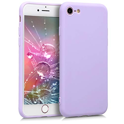 kwmobile Cover Compatibile con Apple iPhone 7/8 / SE (2020) - Custodia in Silicone TPU - Backcover Protezione Posteriore- Lavanda
