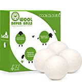 CoolCloudS Wool Dryer Balls Organic XL 6-Pack 100% New Zealand Wool Eco Dryer Balls Laundry by Handmade Reusable Natural Fabric Softener Reduce Wrinkles, Save Time & Energy, Hypoallergenic, Baby Safe