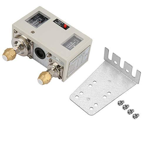 Interruptor de control de presión dual electrónico R1/4'controlador de presión de bomba inteligente para equipo de aire acondicionado 15A 250V