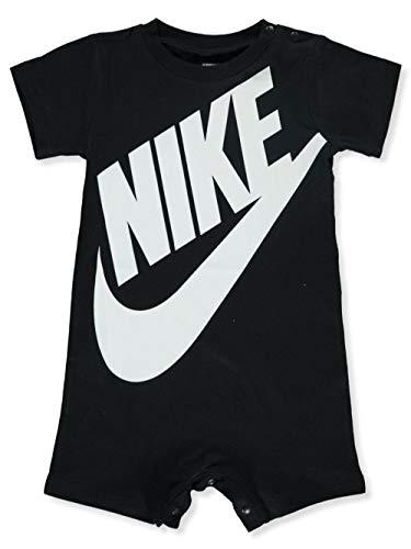 Nike Baby Boy Infant Shortall (Black(66D369-023)/White, 0-3 Months)