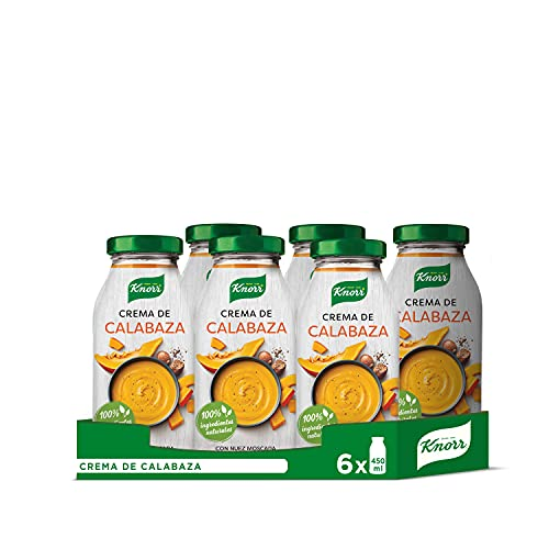 Knorr Crema de Calabaza, Conserva de Sopa y Crema de Verdura - Pack de 6 x 450ml - Total: 2700ml