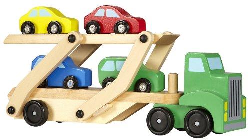 Holz Autotransporter Auto 5-teilig Holzspielzeug Spielzeug für Jungs beste Qualität LKW