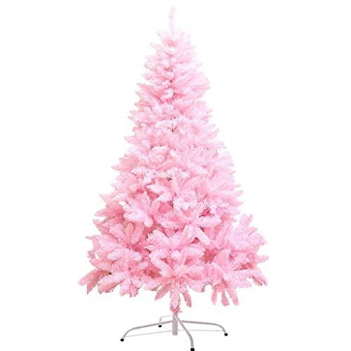 Decoración del árbol de Navidad Inicio (Rosa, 59in, 70in) (tamaño : 180cm,...