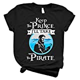 AUCAR Captain Hook Once Upon a Time Keep The Prince I'll Take The Pirate Unisex Shirt