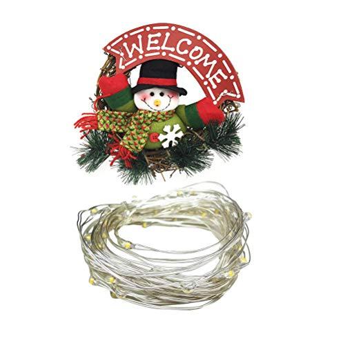 Guirlanda de Natal Valicclud para decoração de festa de grinalda de enfeite de enfeite de guirlanda
