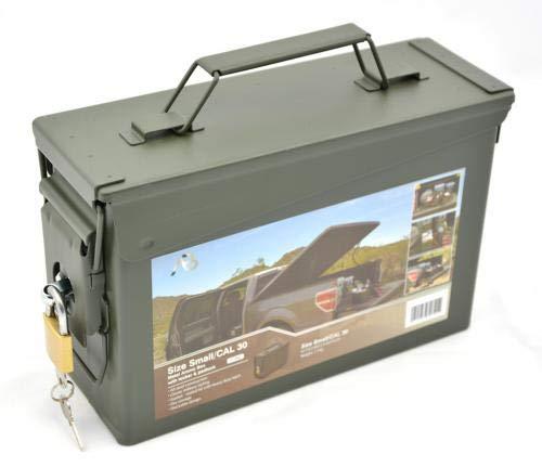 AB Abschließbare Munitions- und Werkzeugkiste mit Schloss (Oliv/Kaliber 30)
