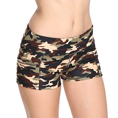 Shorts Damen Tights Sport Kurze Hosen Sporthose Laufshorts Tarnung Fitness Yoga Leggings Yogahose Sweatpants Laufshorts