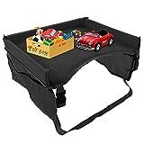Auto Tablett Wasserdichte Baby Kinderwagen Tisch Schreibtisch Speicher Halter Auto Fach für Kinder(Schwarz)
