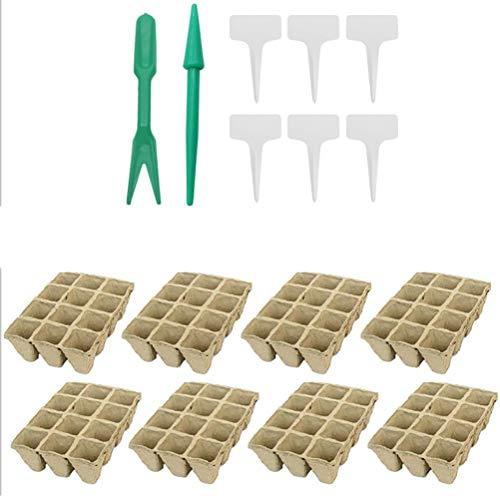 8 macetas biodegradables / macetas / maceta de semillas / cultivo de plantas