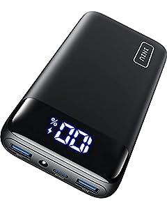 INIU Powerbank, 20W PD3.0 QC4.0 Schnelles Aufladen 20000mAh LED Display Externer Akku, Tri-Outputs USB C Power bank Kompatibel mit iPhone 12 11 Airpords Samsung S20 Huawei Xiaomi Oppo iPad Tablet mehr