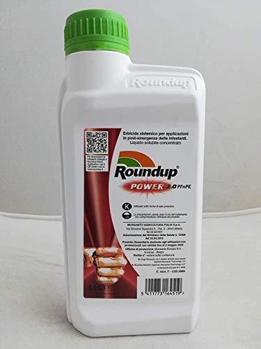 MONSANTO ROUNDUP Power 2.0 diserbante sistemico Glifosate acido 0,5 LITRI LIBERA VENDITA