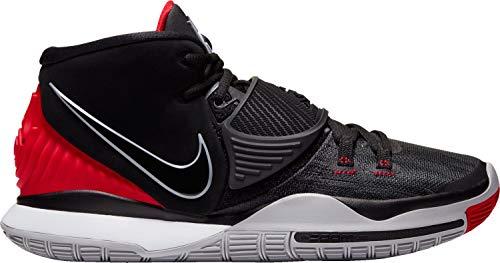 Nike Herren Kyrie 6 Basketballschuh, Negro/Rojo Universitario/Blanco, 45 EU
