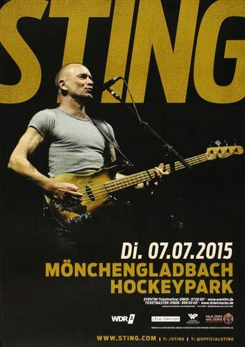 Sting - The Last Ship, Mönchengladbach 2015 » Konzertplakat/Premium Poster   Live Konzert Veranstaltung   DIN A1 «