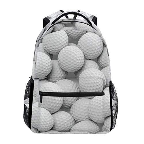 Sport Golf Ball Pattern Backpack Travel School College Book Bag Shoulder Bag Camping Hiking Laptop Daypack