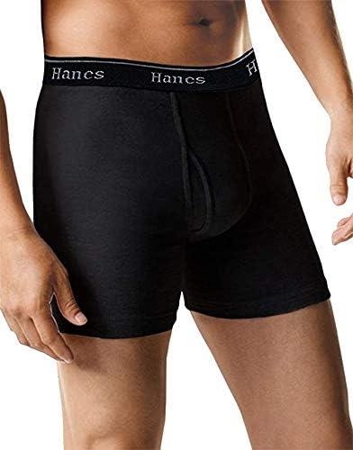 Hanes Men's 5-Pack Ultimate Boxer Briefs Full Black - XX-Large