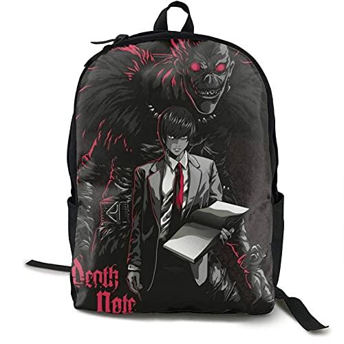 Anime Death Note Bapa Hochleistungs-Büchertasche Lightweighttravel Rusas Multifunktions-Laptop-Büchertasche School Bapas für Jungen