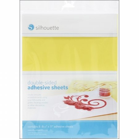 Silhouette Double-Sided Adhesive Sheets 8.5X11 8/Pkg-
