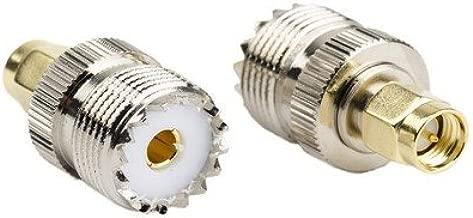 DHT Electronics 2pcs RF coaxial coax adapter SMA male to UHF female SO-239 SO239