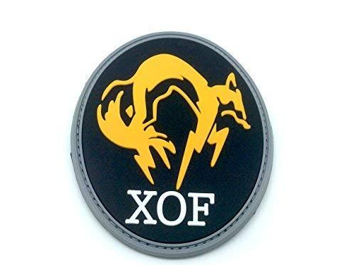 Patch Nation XOF Foxhound Schwarz Special Force Group Metal Gear Solid PVC Airsoft Klettverschluss-Flecken