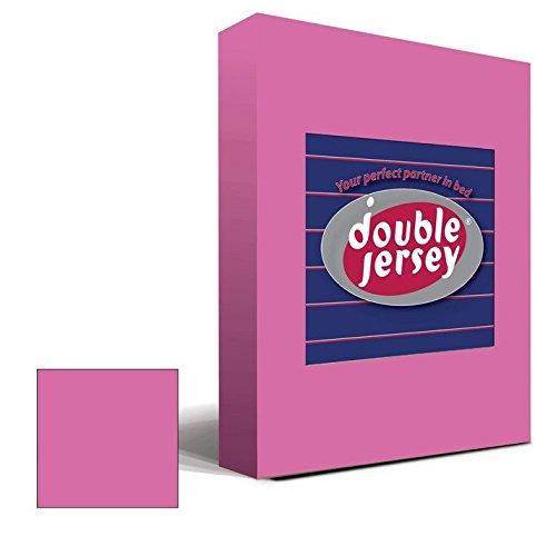 Double Jersey – Spannbettlaken 100% Baumwolle Jersey-Stretch bettlaken, Ultra Weich und Bügelfrei mit bis zu 30cm Stehghöhe, 160x200x30 Lila - 2