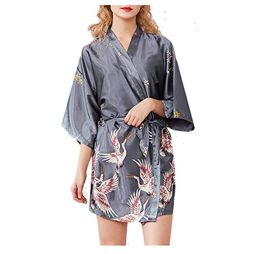 Chickwin Albornoz Nupcial Dama de Honor,Mujer Lujoso V-Cuello Estilo Vestido Kimono para...