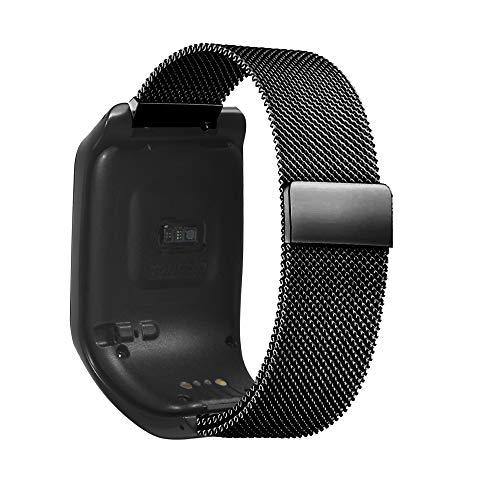 Voghtic - Cinturino per orologio a sgancio rapido, compatibile con TOMTOM Runner 3 e TOMTOM Adventurer, in acciaio inox, con chiusura magnetica