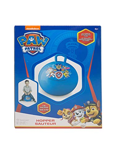 Nickelodeon Paw Patrol Hopper Ball (15 inches Diameter), Paw Patrol Bouncy Ball with Handle, Bouncy Balls for Kids, Bouncing Ball with Handle, Hippity Hop, Bounce Balls with Handles for Kids