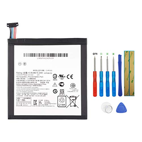 Swark C11P1510 - Batería compatible con Asus ZenPad S 8.0 Z580CA (con herramientas)