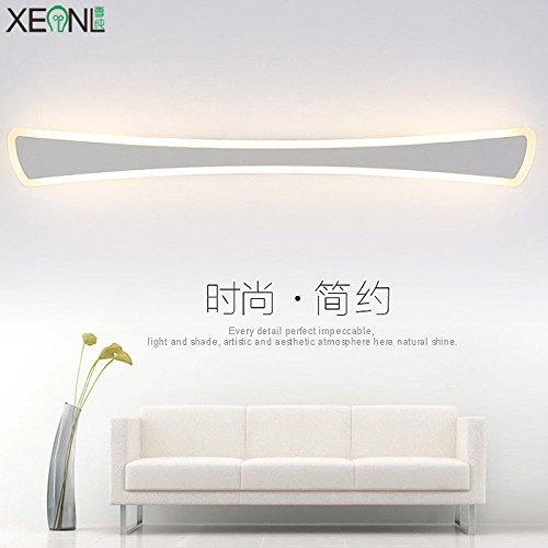 YU-K Gedecoreerd in een moderne stijl wandlamp spiegelkast LED wandlamp anti-mist badkamer wc LED een waterdichte glazen koplamp, 100 cm, 36 W, warm licht