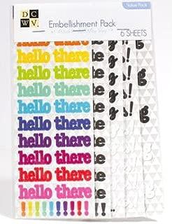 DCWV Embellishment - Card Making Sticker Value Pack - 6 Sheets
