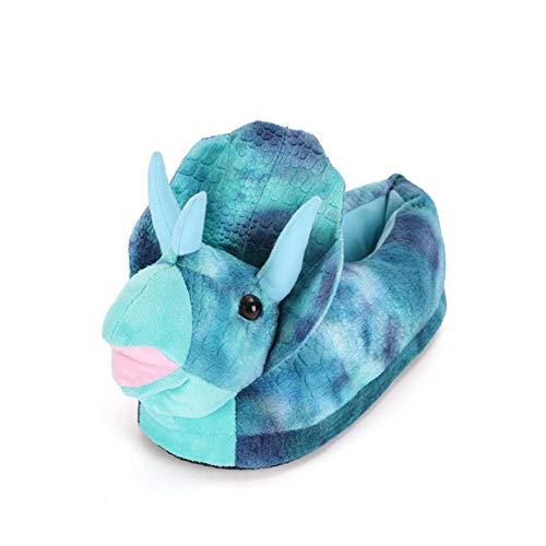 YXX Triceratops Zapatillas De Casa Hombres Adultos Zapatillas De Felpa para Interiores Divertidos Animales Monster Shoes