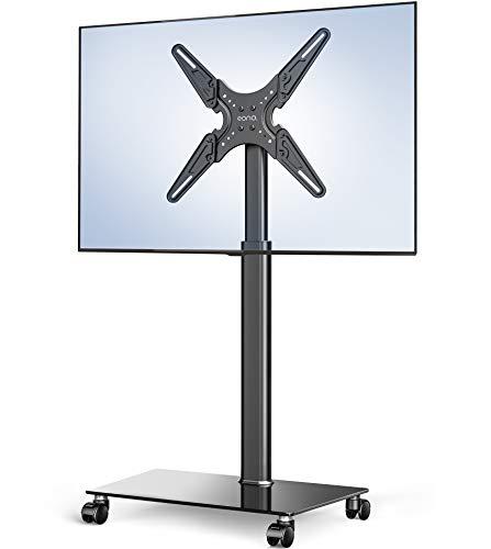 Amazon Brand-EONO Soporte Móvil TV de 19 a 60 Pulgadas Soporte de Suelo para Televisión de Pantalla LED LCD Plasma Plana Curva Altura Ajustable ETT105505MB