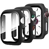 Miimall [2 Stück Schutzfolie Kompatibel mit Apple Watch Series 3/2/1, iWatch 38mm Schutzhülle, Sehr stark PC Hülle + Panzerglas Bildschirmschutz, All-Aro& Hülle für Apple Watch Series 3/2/1 38mm
