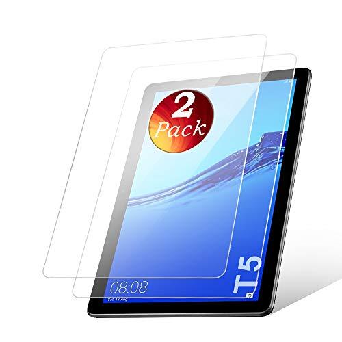 aiMaKE Huawei Mediapad T5 Panzerglas Schutzfolie, 2 Stück Panzerglasfolie für Huawei Mediapad T5 10, 9H Festigkeit/Anti-Kratzer/Blasenfrei,Bildschirmschutzfolie für Huawei Mediapad T5 10 (10,1 Zoll)