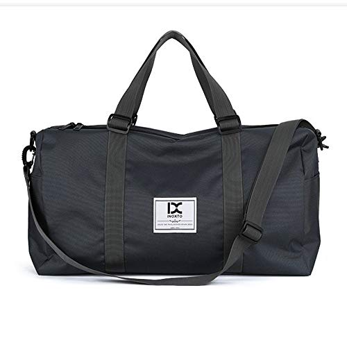 HXXBY Fashion outdoor trolley luggage bag for business travel, one-shoulder messenger bag, large-capacity men's multi-purpose handbag (Color : Gray)