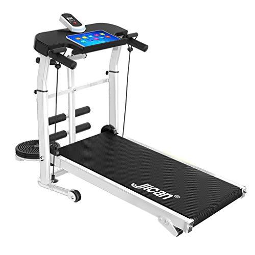 Cintas de correr Máquina para Correr Plegable Máquina De Correr Multifuncional para Correr con Ruedas (Color : Black, Size : 115x55x110cm)