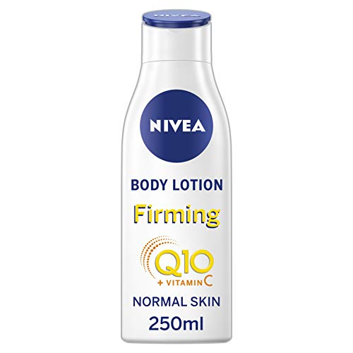 NIVEA Light Firming Body Lotion Q10 + Vitamin C Pack of 6 (6 x 250 ml), Nourishing Firming Cream with Q10 & Vitamin C, NIVEA Soft Moisturising Cream for Firm Skin